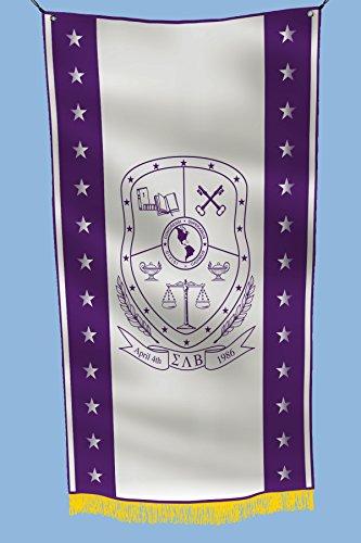 greeklife.store Sigma Lambda Beta lizenzierte Fahne 3x152 cm für Zuhause, Gewerbe, Keller, Garage. Haltbare Metallösen zum Aufhängen, 100% Polyester, Bedruckt.