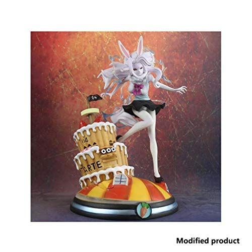 Knmbmg One Piece: Carrot/Kyarotto Moonlight Lion Form Fury Carrot The Rabbit Statue, PVC Figure Toy Model Computer Desktop Decoration, miglior Regalo for Halloween Alto 33cm, in Scatola