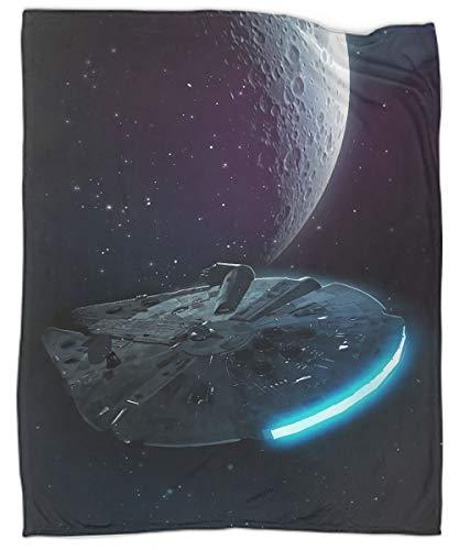 Movie Star Trek Starships - Manta suave para cama, sofá, sofá, silla, 152,4 x 203,2 cm