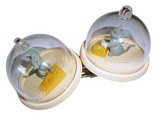 Circa 9cm Molti 100Motivi da collezionare Formaggio con 2campane Moda gioielli alla moda Crazy clip Collection