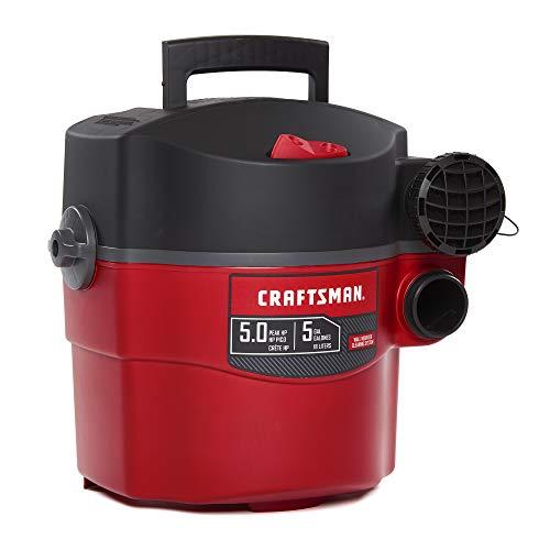 Craftsman CMXEVBE17925 Aspiradora de Pared húmeda y Seca, 5 galones, 5 Picos, para Montaje en Pared...
