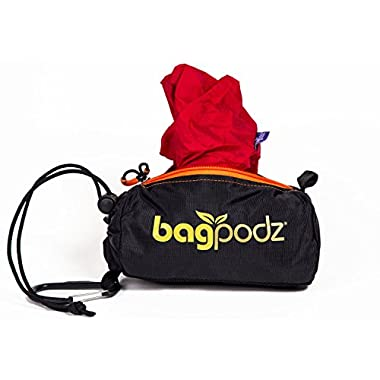 BagPodz Reusable Bag and Storage System - Cayenne Red (Contains 5 Bags)