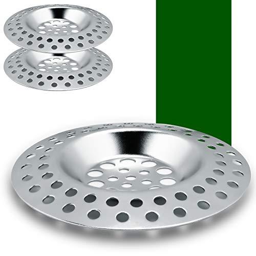 PaWa Abflusssieb Edelstahl - Hochwertiges Waschbecken Sieb - Flexibles Haarsieb Dusche - Spülbecken Sieb oder Duschsieb - Premium Sink Strainer - Abfluss Sieb (2 Stück)