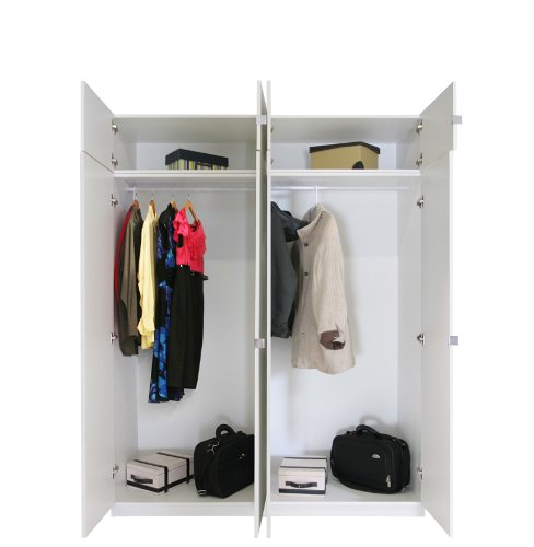 Price comparison product image Contempo Space Alta 8 Door Wardrobe Closet Basic Package - Tall