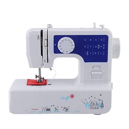 Mini elektrische naaimachine Draagbare knutselmachine, gratis arm Beste naaimachine voor beginners, draagbare desktop elektrische naaimachine voor doek voor familie, 34,0 cm * 16,5 cm * 30,0 cm