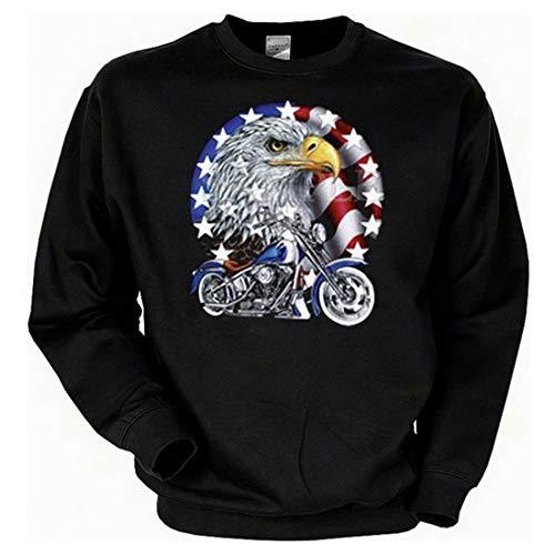 Biker Sweat-Shirt - Cruiser Bike with Eagle - Langarm-Shirt für echte Kerle