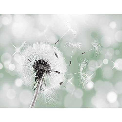 Fototapete Pusteblumen 352 x 250 cm Vlies Tapeten Wandtapete XXL Moderne Wanddeko Wohnzimmer Schlafzimmer Büro Flur Grün 9155011c