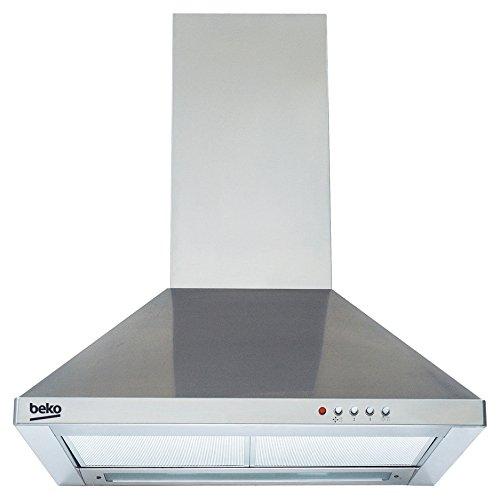 Beko CWB 9420 X Dunstabzugshauben/Kaminhauben / 90 cm/Aktivkohlefilter für Umluftbetrieb