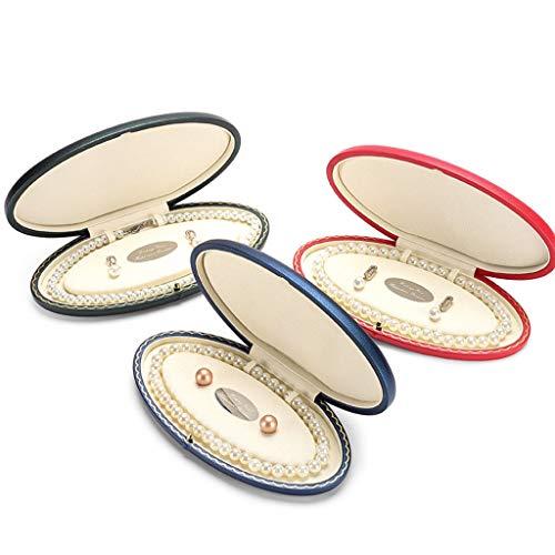 Joyería Caja de Almacenamiento de Collar de Perlas Caja Cuero de PU Caja de Almacenamiento Caja de protección de Collar (Color : 3 Pieces Set, Size : 22 * 11cm)