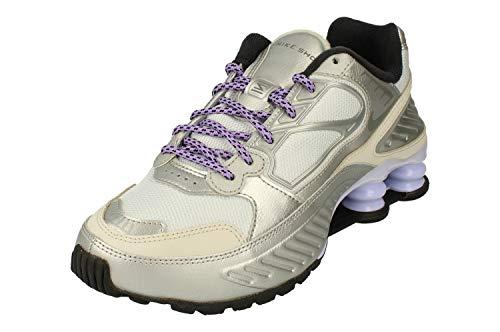 Nike Mujeres Shox Enigma Running Trainers CT3450 Sneakers Zapatos (UK 7.5 US 10 EU 42, Metallic Silver Cool Grey 001)