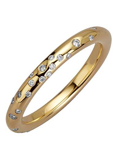 WENZ Damenring mit Diamant Gelbgoldfarben