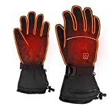 PLYFUNS Heated Gloves,3 Adjustable Heating Temperature Electric Gloves for Men Women Waterproof Gloves for Hiking/Fishing/Skiing/Camping/Winter Outdoor Sports
