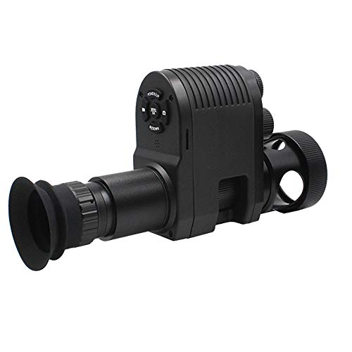 Upgraded Megaorei3 720p HD Digital Night Vision Scope Video Record Camcorder Monocular Clip on Attachment with Built-in 850nm Infrared IR Flashlight and 1.3inch Display for Rifle Hunting Recoil Proof