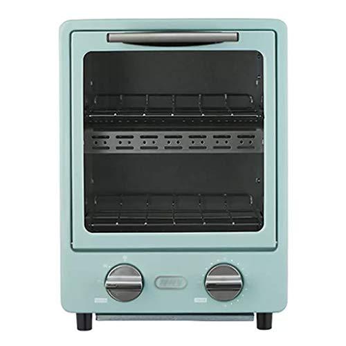 KELITE Mini Horno hogar pequeño Horno multifunción Capacidad 9L Diseño de Doble Capa 95-230 ° C Tornillo de horneado con Temporizador Pizza Pan Hornear Máquina de Hornear Cocina Cocina