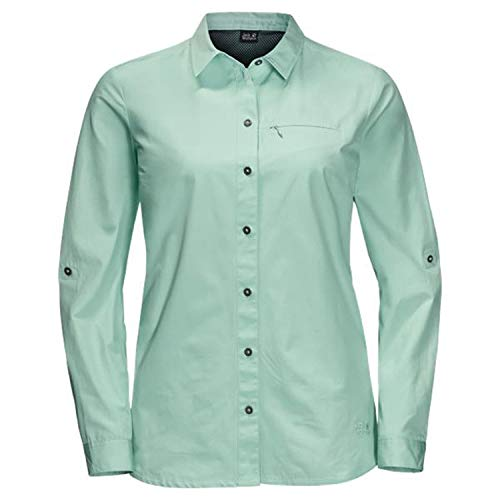 Jack Wolfskin Lakeside Roll-Up Chemise Femme, Light Jade, FR : 2XL (Taille Fabricant : XXL)