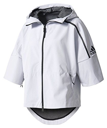 adidas B45505 Sudadera, Bianco (White/Black), X-Small para Mujer