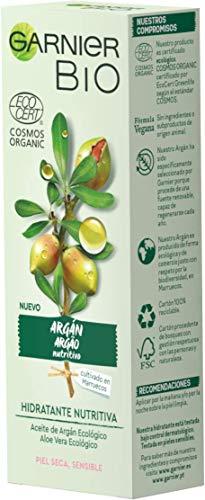 Garnier BIO Crema Hidratante con Aceite de Argán y Aloe Vera Ecológicos y Ácido Hialurónico - 50 ml