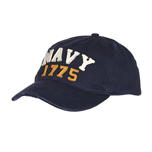 AlxShop - Casquette Stone Washed Navy 1775 - Couleur : Blue