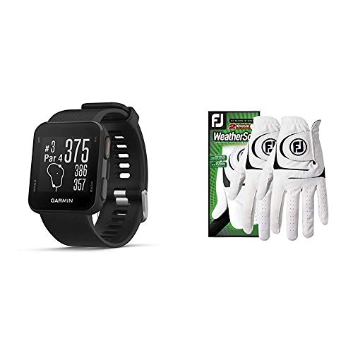 Big Save! Garmin Approach S10 - Lightweight GPS Golf Watch, Black, 010-02028-00 Bundle with Footjoy ...