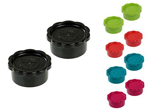 GRÄWE 2 Stück Ersatz-Verschlüsse SCHWARZ für Glaskaraffe geeignet für Sodastream-Glasflaschen Modell Penguin (Nicht Champagnerverschluss) + Crystal