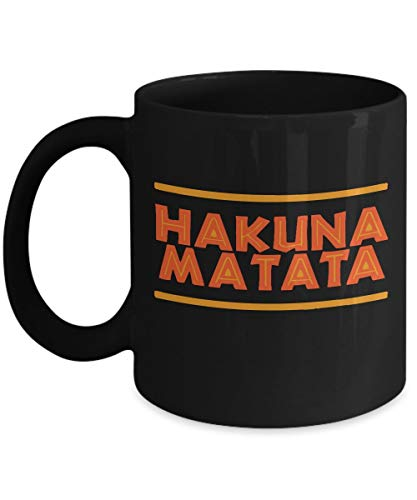 N\A Hakuna Matata - Safari - película Infantil - áfrica - león - Rey Swahili - sin Preocupaciones - Regalo - Taza de café