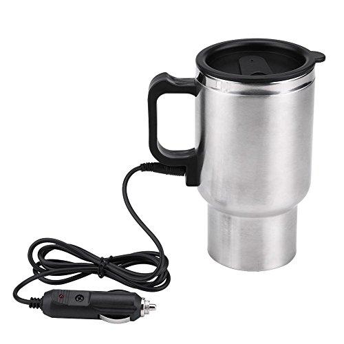 nobrand 12v 450ml Elektroauto Edelstahl Travel Tragbare Heizschale Auto Wasserkocher Kaffeemilch