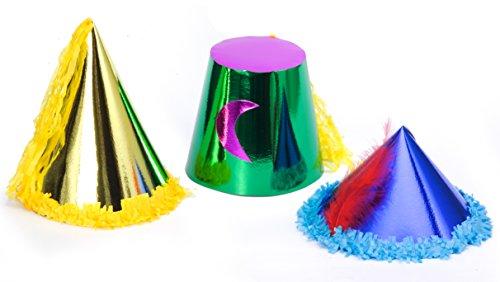 Ciao–Set 36Mützen Erwachsene Luxus, metallisiertes Papier, Motive und Farben sortiert, 70567