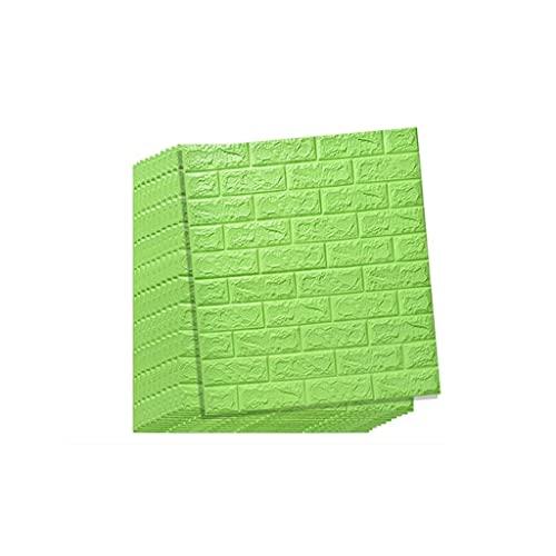K&F-qianzhi Adhesivo de Pared de Espuma PE Pegatinas de Pared de ladrillo de imitación 3D DIY Papel Tapiz Decorativo Autoadhesivo (Color : D)