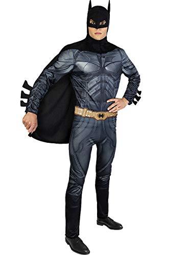 Funidelia | Disfraz Batman - El Caballero Oscuro Oficial para Hombre Talla L Caballero Oscuro, Superhroes, DC Comics, Hombre Murcilago - Color: Negro - Licencia: 100% Oficial
