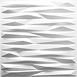 """High quality PVC 3d wall panels, light weight and fire resistant, easy DIY Premium Quality: Fire resistance, Waterproof, High strength and durable easy to clean is an ideal wall covering. Size: Each panel is of 20"""" x 20"""" in size. The thickness is 0.0..."""