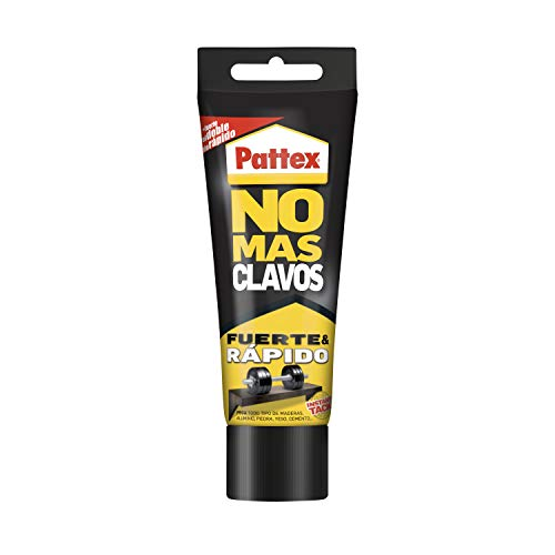 Pattex No Más Clavos Original - Adhesivo de Montaje Resistente, Pegamento Extrafuerte para Madera, Metal y más, Adhesivo Blanco Instantáneo, 1 Tubo x 250 g