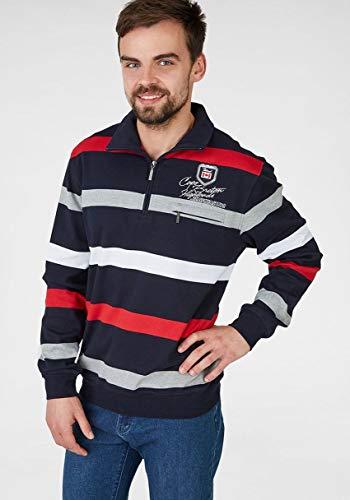 HS Navigazione Sweatshirt Langarm 27521 0513 Marine/grau/rot gestreift, Größe:L