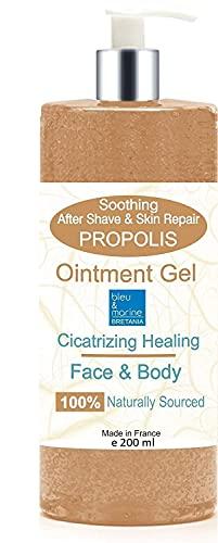 Gel Hydratant de massage à la Propolis 227 ml - Soin Peaux à problèmes - Baume cicatrisant - Soin après-rasage (apaisant et assainissant) - Gel apaisant piqûres d'insectes