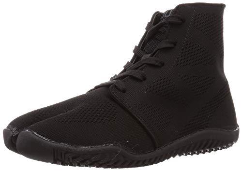 Marugo Tabi Action Shoes Split Toe Breathable Sneakers Sports Jog II (13.5 Wide Women / 12 Medium Men, Black)