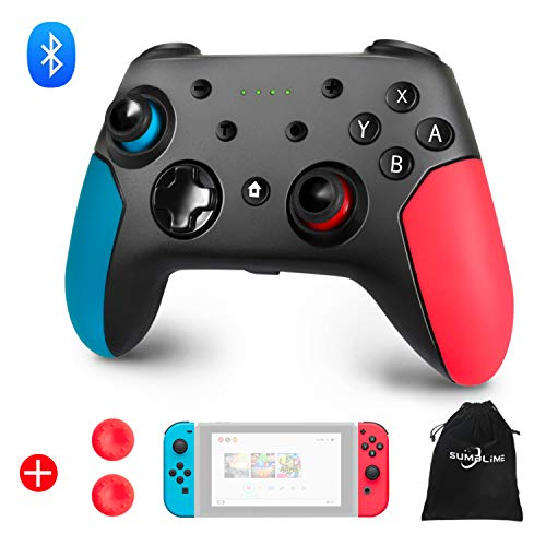 Wireless Controller for Nintendo Switch, Bluetooth Switch Pro Controller Gamepad Joystick with Adjustable Turbo, Dual Shock, 6-Axis gyro