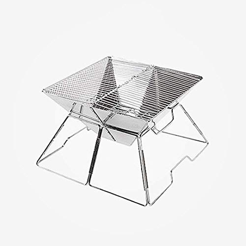Fantastic Deal! Zjnhl Family Gathering/Small Barbecue Easy Barbecues Set Stainless Steel Folding Gri...