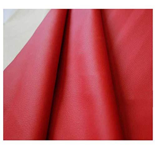 LILAMP Tapicería de Tela de Imitación de Cuero Material Texturizado Resistente, Reacondicionamiento de la Cubierta del Asiento Bolsa Suave Junto a la Cama, 1 Pieza = 100 Cm, Rojo(Size:1.4x6m)