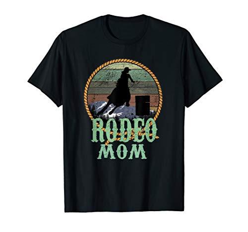 Vintage Sunset Rodeo Mom Barrel Racer Turn & Burn Gift T-Shirt
