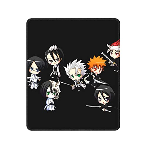 3D Cartoon Seven People Bleach Anime Mouse Pad Non-Slip Mouse Pad Rectangle Rubber Gaming Mouse Pad Anime Mouse Pad Black