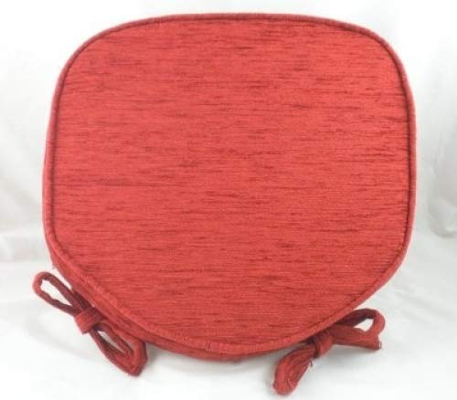 Terracotta Chenille Seat/Chair Pads/Cushions With Piped Edging