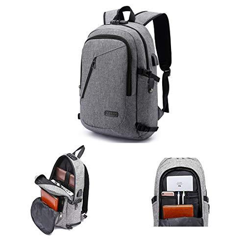 N/A anti-diefstal rugzak, zakelijke laptop-rugzak, met USB-aansluiting en hoofdtelefoonaansluiting, met slot, geschikt voor 15,6 inch computer notebook rugzak voor het werk
