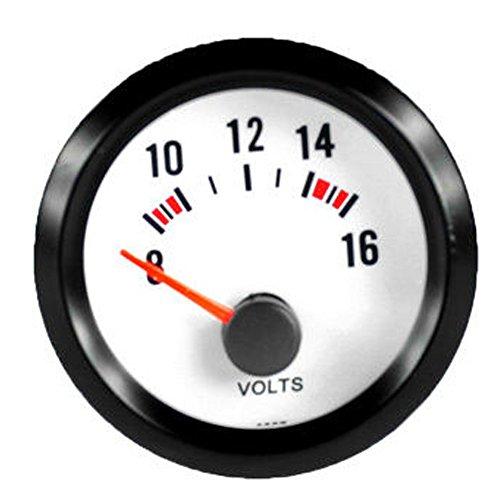 E Support 2 52mm Coche Universal LED Luz Pantalla medidor de voltios Impresión Instrumento indicador