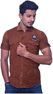 Delong DLGSVNS117 Men's Solid Regular Fit Shirt - Copper