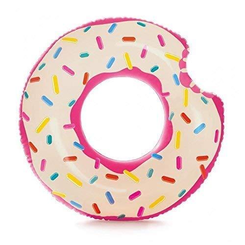 Lively Moments Schwimmring / Schwimmreifen angebissener Donut und Streuselmuster ca. 107 x 99 cm