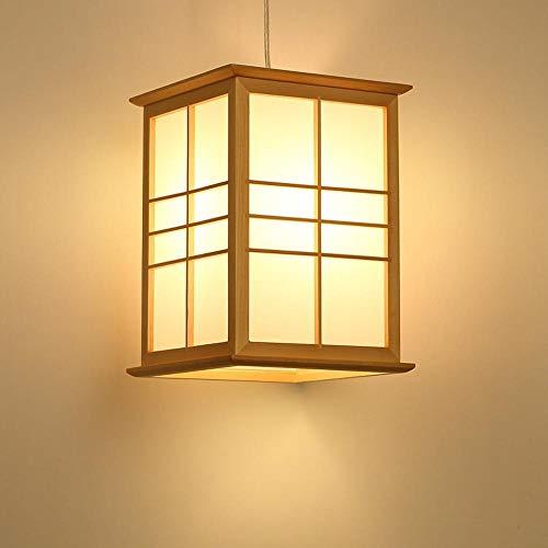 Lampade a sospensione lampade a sospensione lampadari semplici lampadari a led a risparmio energetico moderno giapponese plafoniera in legno massello plafoniera quadrata corridoio luci decorative sosp