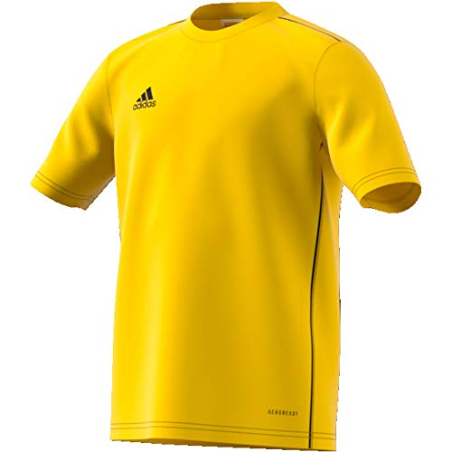 adidas Kinder Core 18 Training Jersey Trainingstrikot, Yellow/Black, 152