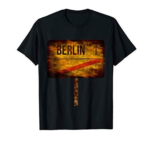 Berlin - Rostiges Orts-Schild Apokalypse Prepper Geschenk T-Shirt