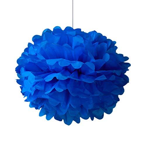 SKYLANTERN Pompons Bleu Roi 40cm x2