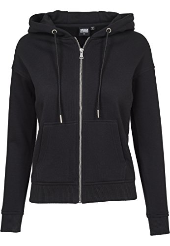 Urban s Damen Zip Strick Regular Fit Strickjacke, Schwarz (Black 00007), S