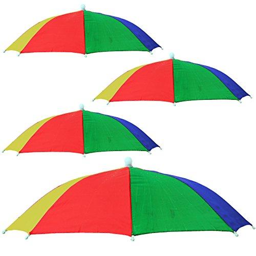 4 x Kopf Regen Schirm Sonnenschirm Regenschirm Kopfschirm
